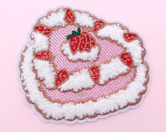 Strawberry short cake chenille iron on patch