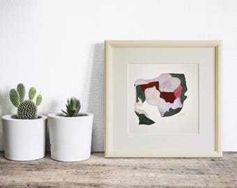 Framed Watercolor Abstract Painting, Modern Wall Art, Original Watercolour Art Painting