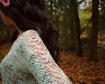 Picking Flowers crochet sweater pattern PDF