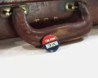 I'm For Nixon Presidential Election Pin Vintage