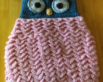 Owl baby cocoon with matching hat