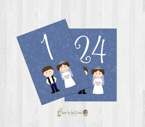 Star Wars Wedding Signs: Star Wars Wedding Table Numbers Printable Signs Ceremony Party