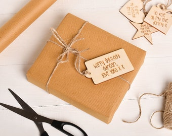 Gift Wrapping With Gift Tag. Personalised Gift Wrapping