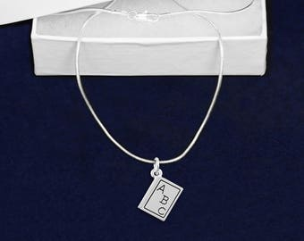 12 ABC Book Necklaces in Gift Boxes (12 Necklaces) (N-04-TS)