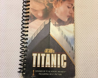 Titanic Handcrafted VHS Notebook - 90 Sheets - Free Shipping