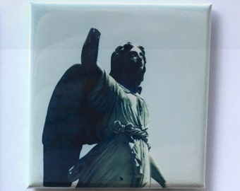"Cemetery Magnet - 2""x2"", Original Photograph by EyeWatch Photo, Fine Art Photography, Urban Photography, Abandoned, Mix any 4!"