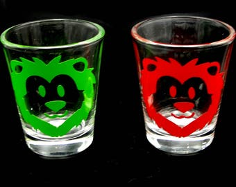 1x Custom Lion Shot Glass