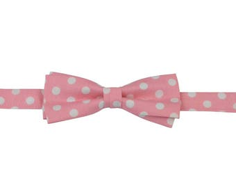 Pink dots bow tie,  Baby Bow ties,  tie shop, boys bow tie, infant bow tie