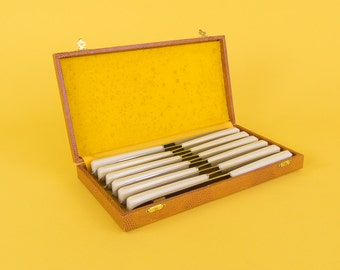 Vintage Boxed Set of 12 French Dinner Knives