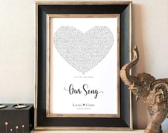 Onze nummer Print unieke Gift, bruiloft, verjaardag, Valentines, gepersonaliseerd voor haar, voor hem, WordArt, op maat, FRAME niet inbegrepen