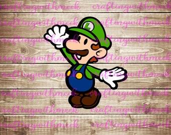 Super Mario - Luigi Svg - Cricut Explore