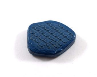 Large Blue Polymer Pendant, Clover Pendant, Dark Blue Pendant, Large Pendant, Polymer Pendant