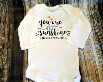 Baby Onsie Bodysuit You are My Sunshine