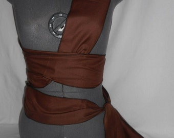 """New brown cotton SCA renaissance pirate sash costume costumes 120"""" by 3"""""""