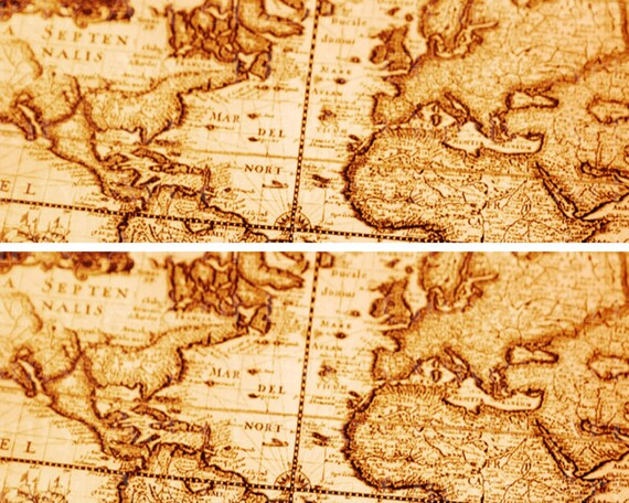 Ancient World Map - Designer Strips - Edible Cake Side Toppers- Decorate The Sides of Your Cake! - D22391