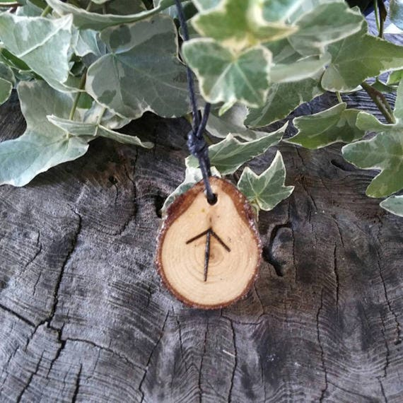 Rune Necklace - Rune Pendant -   Tiwaz - Talisman Necklace - Courage Necklace - Rune Jewelry