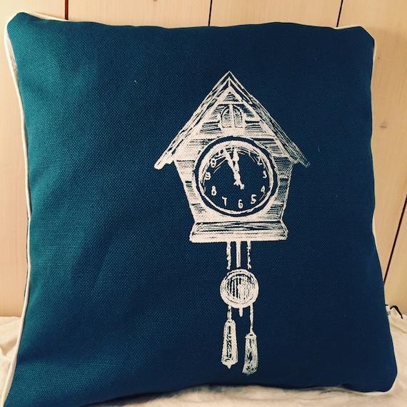 Cuckoo clock pillow