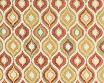 Gold Red Green And Orange Bright Contemporary Upholstery Fabric By The Yard | Pattern # A0019C