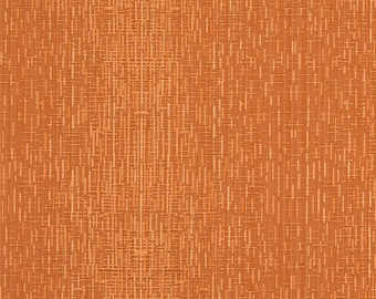 Orange Two Toned Cross Stitch Metallic Sheen Upholstery Fabric By The Yard | Pattern # A0102F