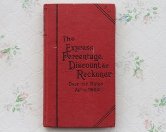 The Express Percentage and Discount Reckoner - Vintage Books - Red