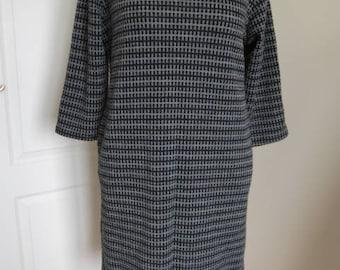 Luca Vanucci Italy Black Charcoal Knitted Dress Tunics L