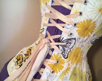 "SALE**  The Butterfly Corset - Sample Waist Training Underbust Corset - 20"""