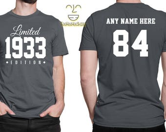 1933 Limited Edition 84th Birthday Party Shirt, 84 years old shirt, limited edition 84 year old, 84th birthday party tee shirt