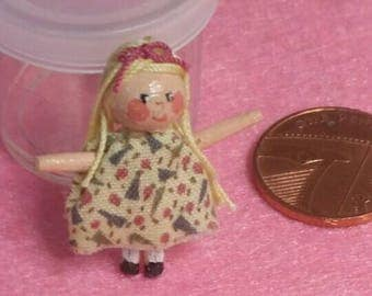 Little Lucy Lollipop - Handcrafted OOAK tiny collectable dolly or dolls house toy