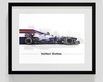 Valtteri Bottas F1 Print - Limited Edition - Williams Racing art