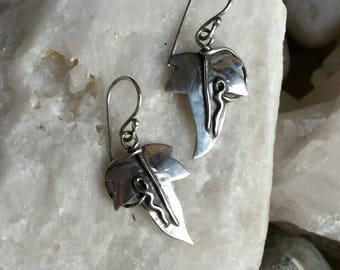 Sterling Silver Ivy Leaf earrings