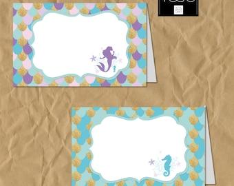 Mermaid Food tent, Mermaid Party, Mermaid custom Party, Mermaid, Little Mermaid, Mermaid Birthday, 1st Birthday