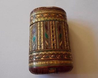 Vintage Strawwork Napoleonic Cigar Cherrot Case Prisoner Of War