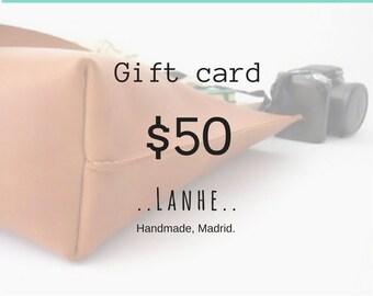 50 GIFT CARD/ Lanhe gift card/