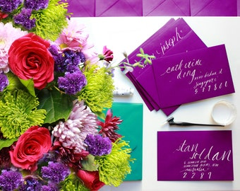 Wedding Calligraphy / Hand-written Calligraphy on Envelopes, Place Cards, Escort Cards