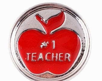 KC9615  16mm #1 Teacher Apple Snap