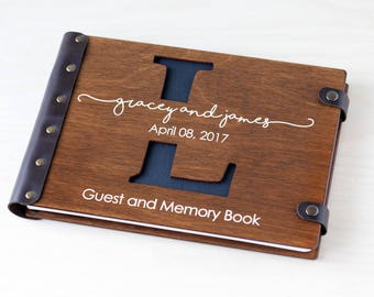 Monogram Guest Book, Wedding Guest Book, Guest Book, Custom Guest Book, Wedding Guestbook, Wood Guest Book, Rustic Guest Book, Wedding
