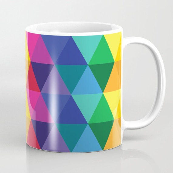 Geometric Galaxy Mug - All the Colors of the Rainbow