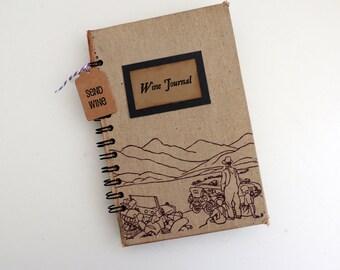 Wine Journal, Grapes of Wrath Journal, John Steinbeck, Blank Journal, Kraft Paper Journal, Vintage Wine Journal
