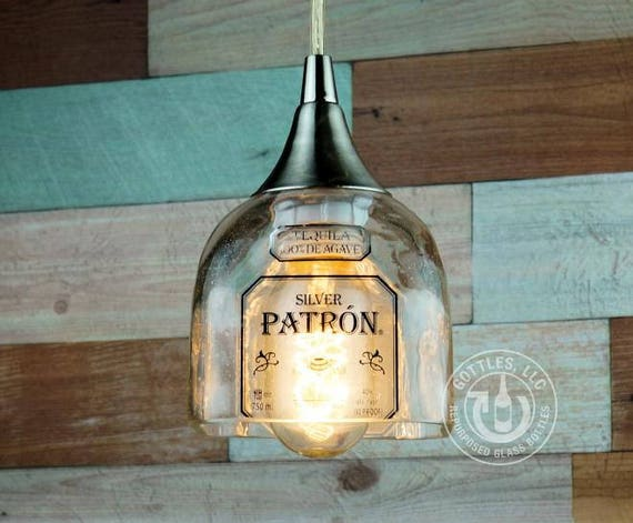 Upcycled Patron Tequila Pendant Lamp