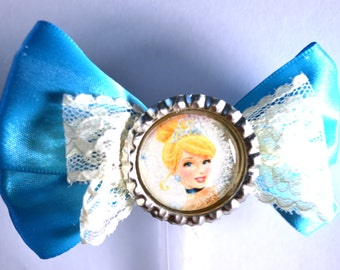 Cinderella Blue Hair Bow