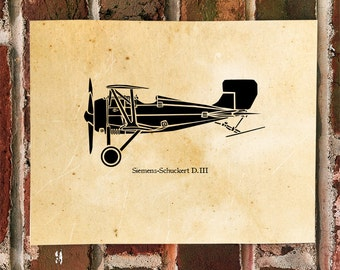 KillerBeeMoto: Limited Print Siemens-Schuckert D.III Bi-Plane Aircraft 1 of 100