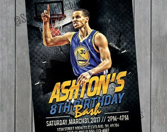 Golden State Warriors Invitation Stephen Curry Invitation
