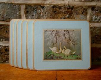 Clover Leaf Duck Placemats Vernon Ward Edward Ward Prints - Set of 6 - Original box