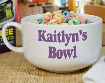 Personalized Ceramic Bowl, Cereal Bowl, Ceramic Bowl