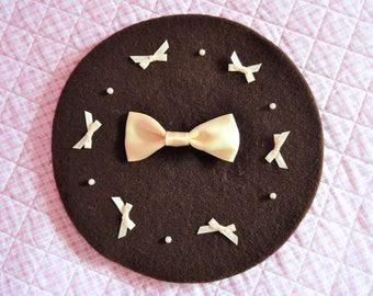 Brown Chocolate Kawaii Lolita Beret