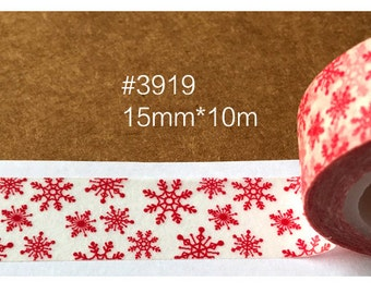Snowflake  Washi Tape -- Masking Washi Tape -Deco tape-- 15mm x10M