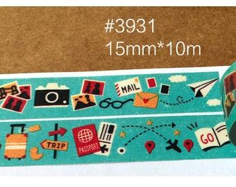 Trip Washi Tape -- Masking Washi Tape -Deco tape-- 15mm x10M