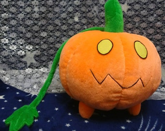 Steven Universe inspired 30 cm diameter Pumpkin plushie, made-to-order. Super cuddly, perfect for cosplay, usable as pillow :)