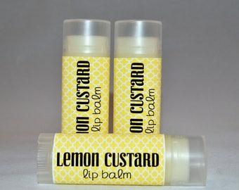 Lemon Custard - Lip Balm - Lemon Custard Lip Balm - Natural Lip Butter - Lemon