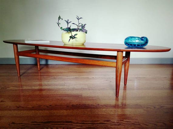 vintage drexel heritage surfboard coffee table